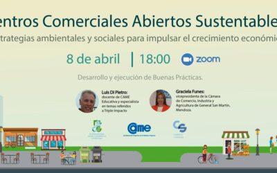 Inscribite al webinar de Centros Comerciales Abiertos Sustentables